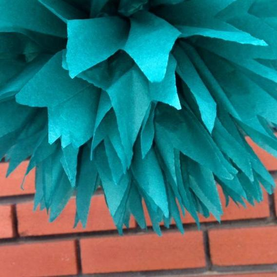 18 inch Tiffany Blue / party poms / pompoms / first birthday / baby shower / hanging poms / nursery pom poms / flower balls / decorations